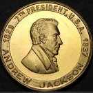 Andrew Jackson 7th President Bronze Medallion~The Hero Of New Orleans~Free Ship