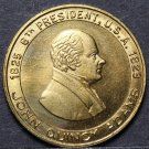 John Quincy Adams 8th President Bronze Medallion~The Diarist~Old Man Eloquent~