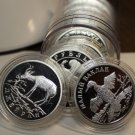 Roll (10) Cameo Proof Silver Plated 33mm Medallions~Encapuslated~#2536~Free Ship