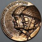 Huge 60mm Israel Liberation Of Jerusalem 6 Day War Solid Bronze Medallion~Fr/Shi