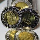 Gem Unc Roll (20) Egypt 2007 1 Pound~King Tutankhamun~Bi-Metal~Free Shipping