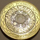Great Britain 1998 2 Pounds Cameo Proof~Edge~Shoulders Of Giants~Celtic~Fr/Ship