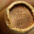 Gem Unc Original Roll (50) Great Britain 1974 Half New Pennys~Bronze~Free Ship