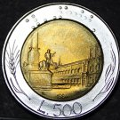 Italy 500 Lire, 1984-R Gem Unc Bi-Metallic Coin~Free Shipping