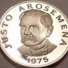 Panama 25 Centesimos, 1975 RARE Proof~Justo Arosemena~Free Shipping