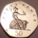 Great Britain 50 Pence, 1985 Cameo Proof~102,000 Minted~Britannia Seated Right~
