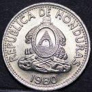 Honduras 10 Centavos, 1980 Gem Unc~Wreath With Beaded Border~Free Shipping