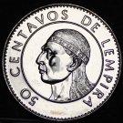 Honduras 50 Centavos, 1994 Gem Unc~Chief Lempira~Free Shipping