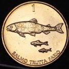 Slovenia Tolar, 2001 Gem Unc~Three (3) Brown Trout~Wildlife Coin~Free Shipping