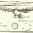 Continental Dynamics Common Stock Certificate 1,000 Shares May 12th 1971~Fr/Ship