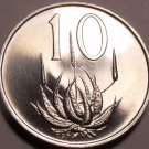 South Africa 10 Cents, 1966 Proof~Aloe Plant~Only 25,000 Minted~Free Shipping