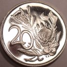 South Africa 20 Cents, 1966 Proof~Protea Flower~Only 25,000~Free Shipping