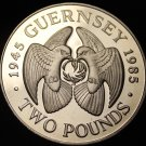 Guernsey 1985 2 Pounds Extremely Rare Proof~2,500 Minted~Pair Of Doves~Free Ship