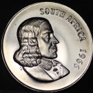 South Africa 5 Cents, 1966 Proof~Blue Crane~Only 25,000 Minted~Free Shipping