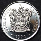 South Africa 20 Cents, 1970 Proof~Protea Flower~Only 10,000 Minted~Free Shipping