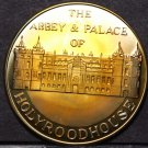 Proof Toned Abbey Palace Of Holyroodhouse England 38.1mm Bronze Medallion~Fr/Shi
