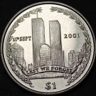 British Virgin Islands Dollar, 2002 Unc~September 11th World Trade Center Dollar