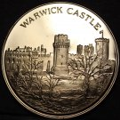 Warwick Castle England Proof 38.1mm Bronze Medallion~Free Shipping