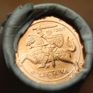 Gem Unc Original Roll (50) Lithuania 2017 1 Euro Cents~Knight On a Horse~Free Sh