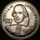 38.8mm Gem Unc William Shakespeare~Anne Hathaways Cottage Medallion~Free Ship