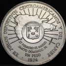 Dominican Republic Peso, 1974 Silver Gem Unc~12th Caribbean Games~Free Shipping