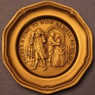 Franklin Mint~There's a Time to Wink as Well as to See~Solid Pewter Mini Plate~
