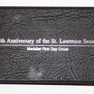 St. Lawrence Seaway 25th Anniv Official US/Canadian Vintage Set~COA~Bronze Stamp