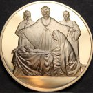 Solid Bronze Proof Franklin Mint Medallion~We Three Kings~Free Shipping