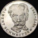 Germany 5 Mark, 1975- Unc Silver~100 Anniv Birth Of Albert Schweitzer~Free Ship