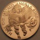 Solid Bronze Proof Franklin Mint Medallion~Hark The Herald Angels Sing~Fr/Ship