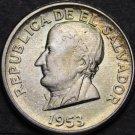 El Salvador 50 Centavos, 1953 Gem Unc Silver~Jose Matias Delgado~Free Shipping