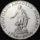 Austria 25 Shillings, 1956 Silver Unc~Wolfgang Mozart 200th Anniversary~Fr/Ship