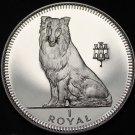 Gibraltar 1 Royal, 1995 Gem Unc~Collie Dog~Free Shipping