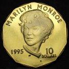 Marshall Islands 1995 10 Dollars Gem Unc~Marilyn Monroe~Brass~Free Shipping
