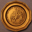 Franklin Mint~The Rotten Apple Spoils His Companion~Solid Pewter Mini Plate~Fr/S