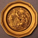 Franklin Mint~Who Pleasure Gives, Shall Joy Receive~Solid Pewter Mini Plate~Fr/S