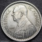 Monaco 10 Francs, 1946 Gem Unc~Louis II~Only Year Minted~Free Shipping