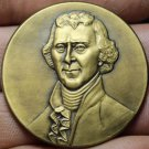 Thomas Jefferson~All Men Are Created Equal~Gem Unc Bronze Medallion~45mm~Free Sh