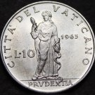 Vatican City 10 Lire, 1963 Gem Unc~Prudence Standing With Snake~90k Minted~Fr/Sh