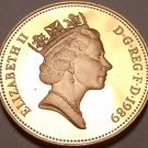 Great Britain Penny, 1989~Gem Cameo Proof~100,000 Minted~Crowned Portcullis~Fr/S