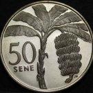 Samoa 50 Sene, 1974 Rare Silver Proof~Banana Tree~Only 5,578 Minted~Free Ship
