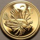 Papua New Guinea 2 Toea, 1976 Rare Proof~Lion Fish~16,000 Minted~Free Shipping