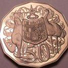 Australia 50 Cents 1981 Cameo Proof~Kangaroo & Emu~86,000 Minted~Free Shipping