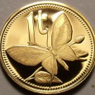 Papua New Guinea Toea, 1976 Rare Proof~16,000 Minted~Butterfly~Free Shipping