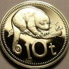 Papua New Guinea 10 Toea, 1976 Rare Proof~CusCus~16,000 Minted~Free Shipping