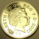 Cameo Proof Great Britain 2002 10 New Pence~Lion Coin~Free Shipping