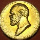 Gem Unc James A Garfield Presidential Bronze Inauguration Medallion~Free Ship