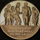 Bronze Franklin Mint Medallion~Washington Bids Farewell to Army~Revolutionary~FS
