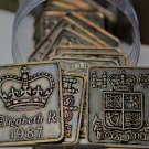 Roll (20) Great Britain 1987 Queen Elizabeth Proof Set Medallions~Free Shipping
