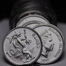 Gem Unc Roll (40) Solomon Islands 2012 10 Cent Coins~SEA SPIRIT~Free Shipping
